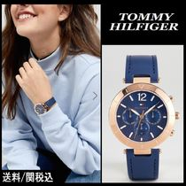 【Tommy Hilfiger】1781881 Chronograph Leather Watch ♪