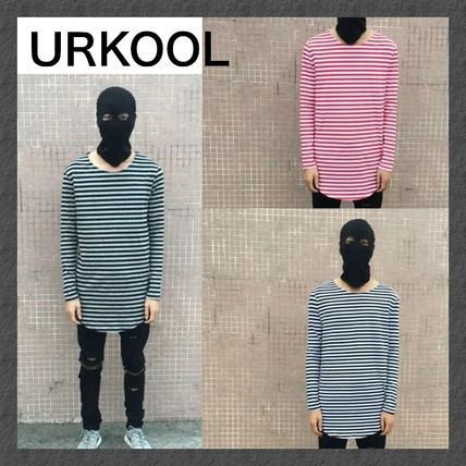 【URKOOL】STRIPED LONG SLEEVE T-SHIRT