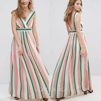 国内発送ASOS/Traffic People Striped Maxi Dress