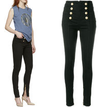 18SS BAL255 BUTTONED SKINNY JEANS WITH ZIP DETAIL