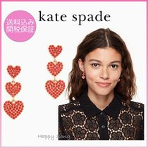 kate spade◆可愛いピアス◆yours truly pave heart triple drop