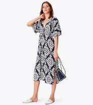 《関税・送料無料》Tory Burch♪ TAPESTRY GEO BEACH DRESS