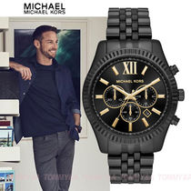 ★関税・送料込★Michael Kors Men's Lexington Black IP MK8603