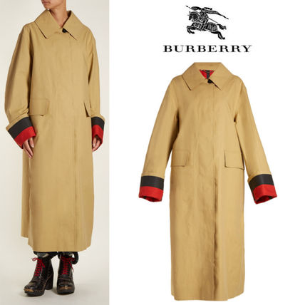 【18SS】★BURBERRY★Point-collar bonded-cotton trench coat