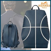 HERMES直営店 Cityback 27 basketball backpack☆bleu de Malte