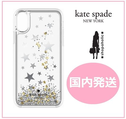 kate spade new york iPhone・スマホケース 【国内発送】Silver Gold Foil Stars iPhone iPhone X