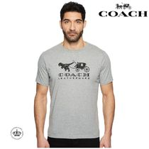 【COACH】 Rexy & Carriage  半袖 ロゴ Tシャツ グレー/関送込