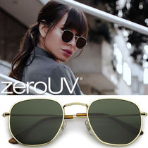 全4色*zeroUV*RETRO MODERN GEOMETRIC HEXAGON FRAME DAPPER SUN
