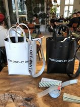 """【OFF-WHITE】18SS新作 """"FOR DISPLAY ONLY"""" TOTE (Black /White)"""