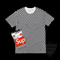 SS18 SUPREME HANES CHECKER TAGLESS TEES 2 PACK S-XL 送料無料