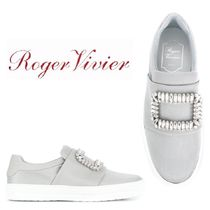 【18SS】大注目!!★ROGER VIVIER★embellished slip-on sneakers