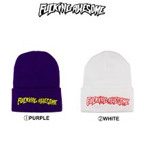 Fucking Awesome(ファッキング オウサム) ニットキャップ・ビーニー 【Fucking Awesome】新作☆日本未入荷☆Outline Logo Beanie