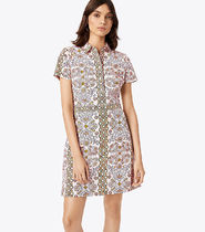 Tory Burch Port Printed Shirt Dress