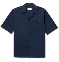 【AMI ALEXANDRE MATTIUSSI】Camp-Collar Cotton-Twill Shirt