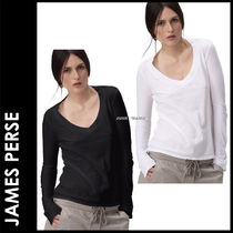 JAMES PERSE(ジェームスパース) Tシャツ・カットソー ★3-7日着/追跡付・JAMES PERSE】長袖CASUAL V
