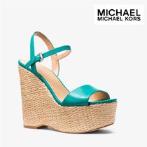 ☆ Michael Kors☆Fisher Leather Wedge