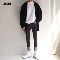 ★ASCLO★ ASCLO plack denim pants