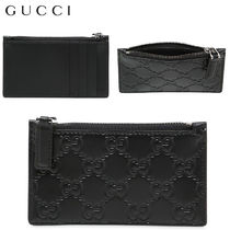 【正規品保証】GUCCI★18春夏★SIGNATURE LEATHER CARD HOLD