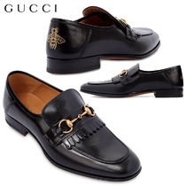 【正規品保証】GUCCI★18春夏★HARBOR FRINGED HORSEBIT LOAFERS