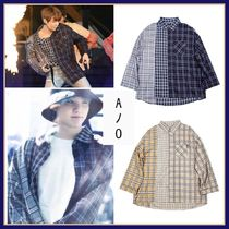 BTS着用★AJOBYAJO★アジョ Over Twofold Stripe Shirt 2色