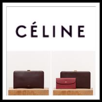 ★CELINE  《CLASP CLUTCH WITH BURGUNDY CHAIN》送料込み★