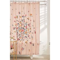 Urban Outfitters カーテン Bouquet Check Shower Curtain