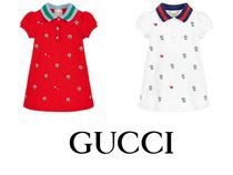 国内発送 GUCCI Cotton Pique Baby Dress 3歳まで