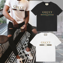GUCCI(グッチ) Tシャツ・カットソー 大人気!【送料込】18SS★GUCCI★ヴィンテージロゴ Tシャツ 白黒