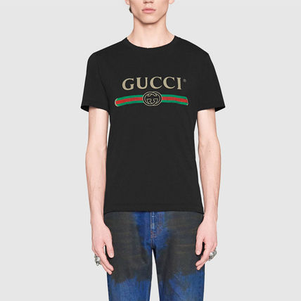 GUCCI Tシャツ・カットソー 大人気!【送料込】18SS★GUCCI★ヴィンテージロゴ Tシャツ 白黒(8)