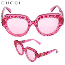 f092e855cb7  正規品保証 GUCCI☆18春夏☆SUNGLASSES W  HEART CRYSTALS