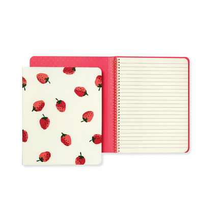 kate spade new york ノート 即納Kate spadeNY strawberries spiral notebook 183248