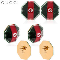 【正規品保証】GUCCI★18春夏★GG PLEXI EARRINGS W/ CRYSTALS