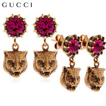 【正規品保証】GUCCI★18春夏★FELINE HEAD & CRYSTAL EARRINGS