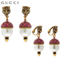 【正規品保証】GUCCI★18春夏★FAUX PEARLS & CRYSTAL EARRINGS