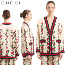 【正規品保証】GUCCI★18春夏★SILK TWILL CARDIGAN JACKET