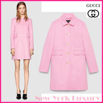GUCCI★グッチ★素敵!Pink Wool Single Breasted Coat