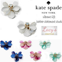 【新作】ケイトスペード★vibrant life leather statement studs
