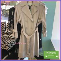 【kate spade】お背中フリルが素敵♪relaxed twill trench coat