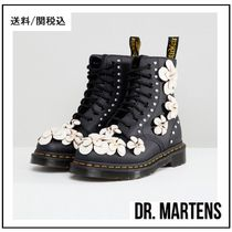 【Dr Martens】3D Flower Lace Up Boots フラワー スタッズ 黒♪