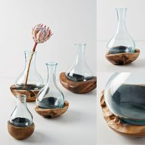 関税送料込♪【Anthropologie】Teak & Bottle Vase♪Extra-Small