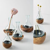 関税送料込♪【Anthropologie】Teak & Bottle Vase♪Small