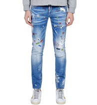 【関税負担】 DSQUARED2 18SS ART PAINTED SLIM JEAN