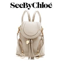 【18SS】大注目★SEE BY CHLOE★Olga grained-leather backpack