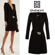 【18SS★RUNWAY】★GIVENCHY★Crystal wool-blend dress