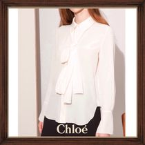 ★★CHLOE《クロエ》EDEN WHITE SILK BLOUSE  送料込み★★