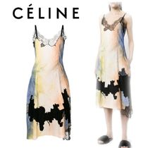 【18SS】大注目!!★CELINE★lace inserts dress