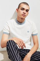 Fred Perry ボーダーリブ オリジナルロゴ Tシャツ  送料関税込み