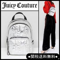 """UK話題沸騰中!Juicy Couture"""" メタリック刺繍ロゴバッグSilver"""