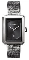 Chanel Boyfriend Black Guilloche Dial Ladies Watch