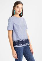 CORTEFIEL(コルテフィエル) ブラウス・シャツ 追跡あり[Cortefiel]BLOUSE WITH EMBROIDED HEM ブラウス BLUES